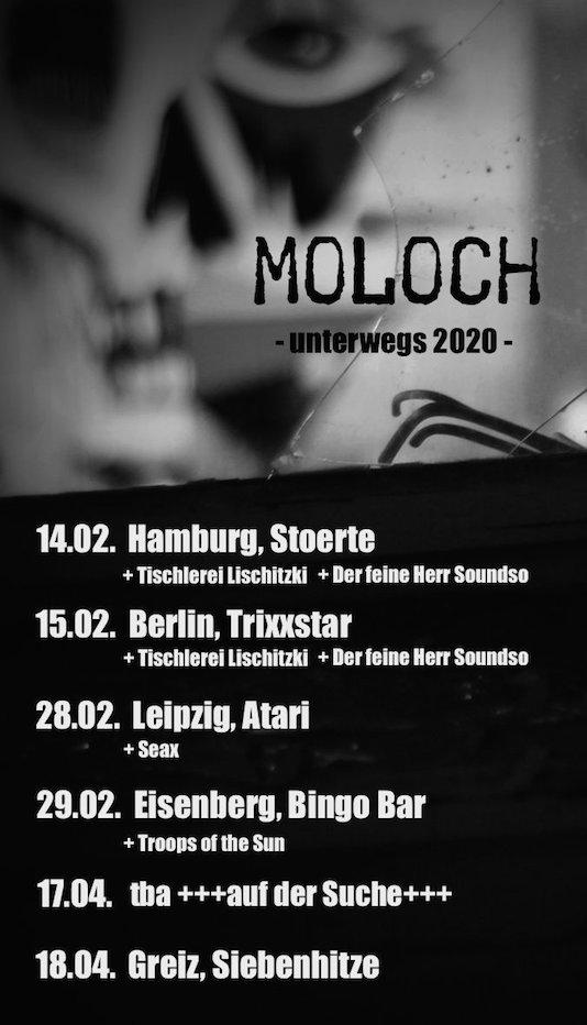Moloch Tourdaten 2020